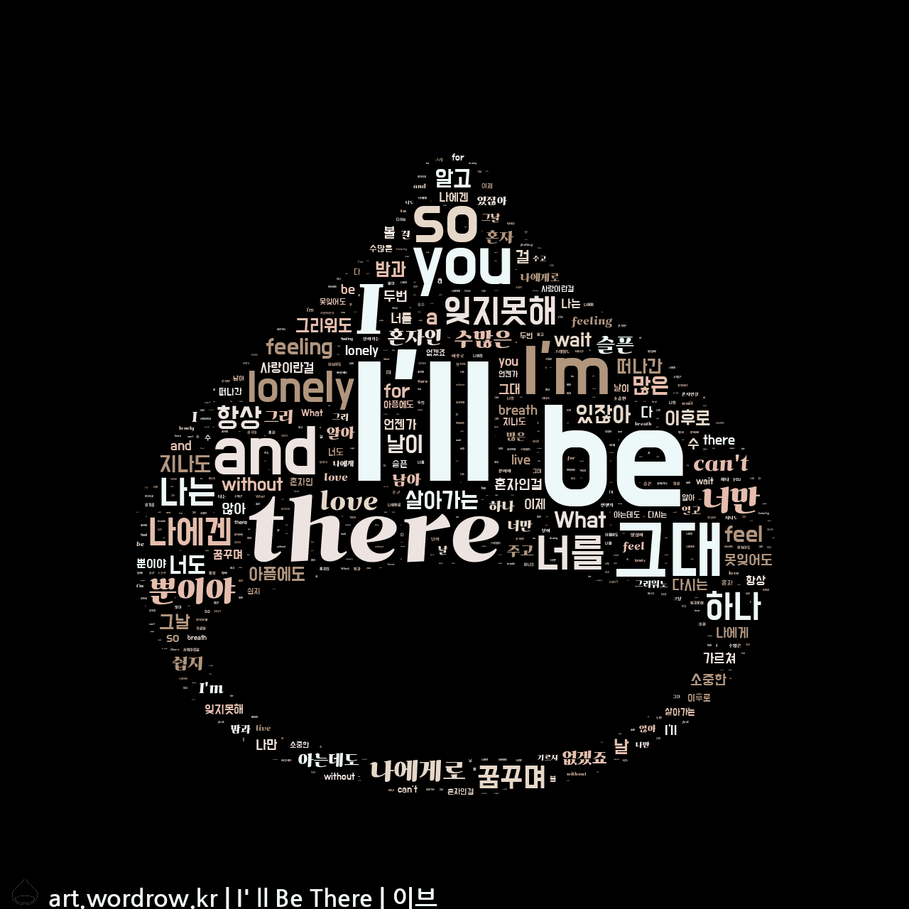 워드 아트: I' ll Be There [이브]-6